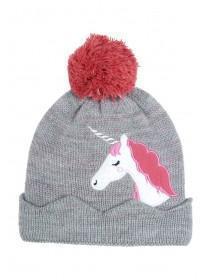 Younger Girls Unicorn Bobble Hat