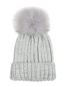 Older Girls Grey Jewel Hat