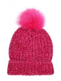 Older Girls Pink Chenille Hat