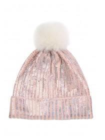 Older Girls Pink Metallic Hat