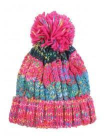 Older Girls Multicolour Mixed Yarn Hat