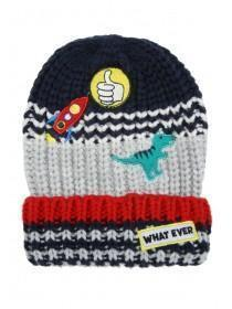 Younger Boys Grey Badge Hat