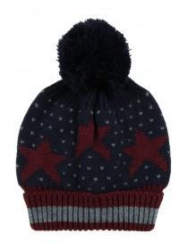 Older Boys Blue Star Bobble Hat