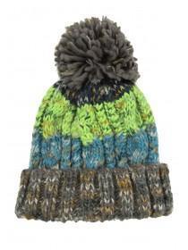Older Boys Green Chunky Knit Hat