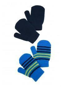 Younger Boys 2pk Blue Magic Mittens