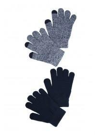 Older Boys 2pk Navy Magic Gloves