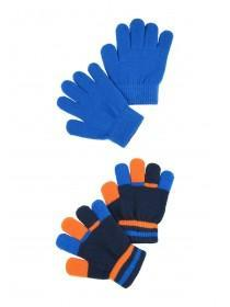 Younger Boys 2pk Blue Magic Gloves