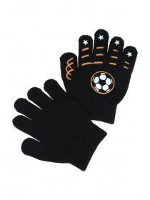 Younger Boys Black Football Gripper Gloves