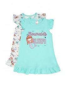 Girls 2pk Mermaid Nightdresses