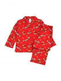 Girls Red Sausage Dog Pyjama Set