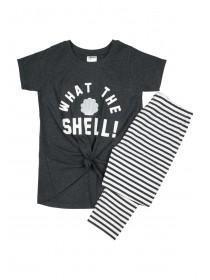 Older Girls Striped Slogan Pyjama Set