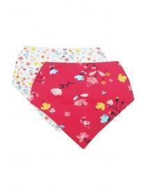 Baby Girls 2pk Pink Floral Bibs