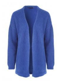 Womens Cobalt Blue Feather Knit Cardigan