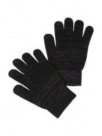 Womens Black Lurex Touch Screen Gloves