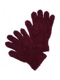 Womens Burgundy Snowsoft Gloves