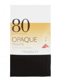 Womens Black 1pk 80 Denier Opaque Tights