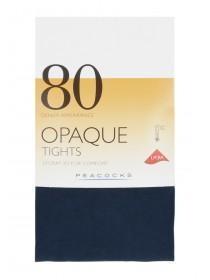 Womens Navy 1pk 80 Denier Opaque Tights