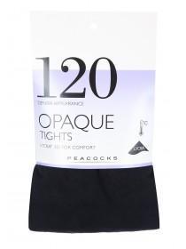 Womens 1pk Black 120 Denier Opaque Tights