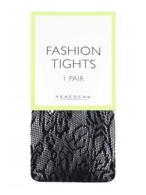 Womens 1pk Black Lace Tights
