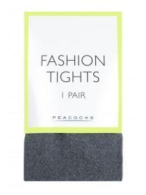 Womens 1pk Grey Opaque Tights