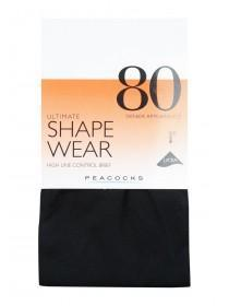 Womens 1pk 80 Denier Ultimate Shapewear Tights