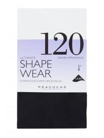 Womens Black 120 Denier Shapewear Tights