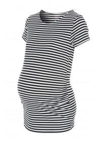 Maternity Monochrome Stripe T-Shirt