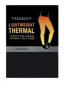 Womens Black Thermal Leggings