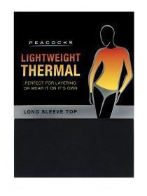 Womens Black Thermal Long Sleeve Vest