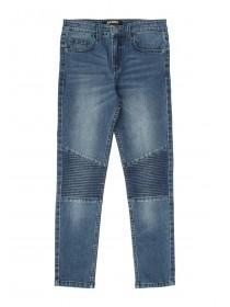 Older Boys Blue Biker Skinny Jeans