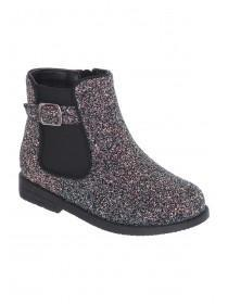 Younger Girls Multicolour Glitter Ankle Boots
