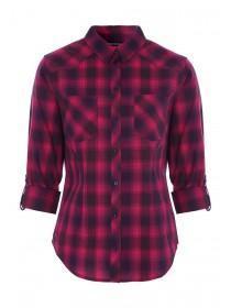 Womens Pink Check Shirt