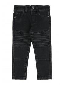 Younger Boys Black Biker Jeans