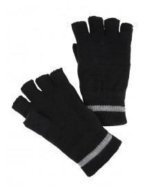 Mens Black Fingerless Thinsulate Gloves