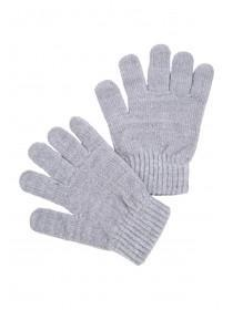 Womens Grey Chenille Gloves