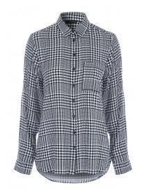 Womens Monochrome Check Shirt