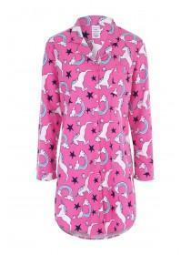 Womens Pink Unicorn Boyfriend Nightdress