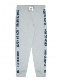 Older Boys Grey Slogan Joggers