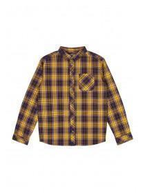 Older Boys Yellow Check Long Sleeve Shirt