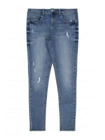 Older Girls Blue Ripped Jeans