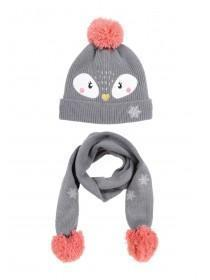 7269eea7 Younger Girls Penguin Hat And Gloves Set ...