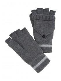 Mens Grey Flip Top Thinsulate Gloves