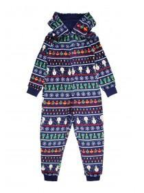 Boys Navy Fairisle Onesie