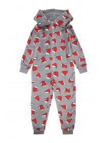 Boys Grey Christmas Onesie