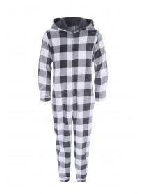 Mens Grey Check Onesie