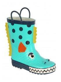 Aqua Sea Monster Handle Wellies