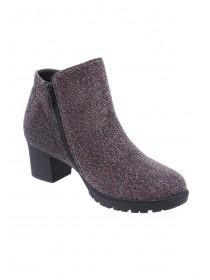 Older Girls Multicolour Glitter Ankle Boots