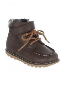 Younger Boys Brown Lace Up Boots