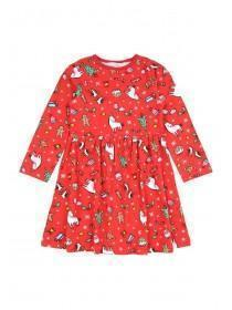 Younger Girls Red Christmas Dress