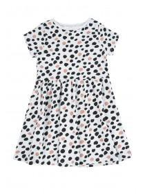 Younger Girls Grey Spot Dress